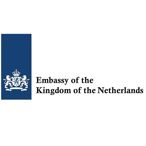 Logo of the Dutch embassy